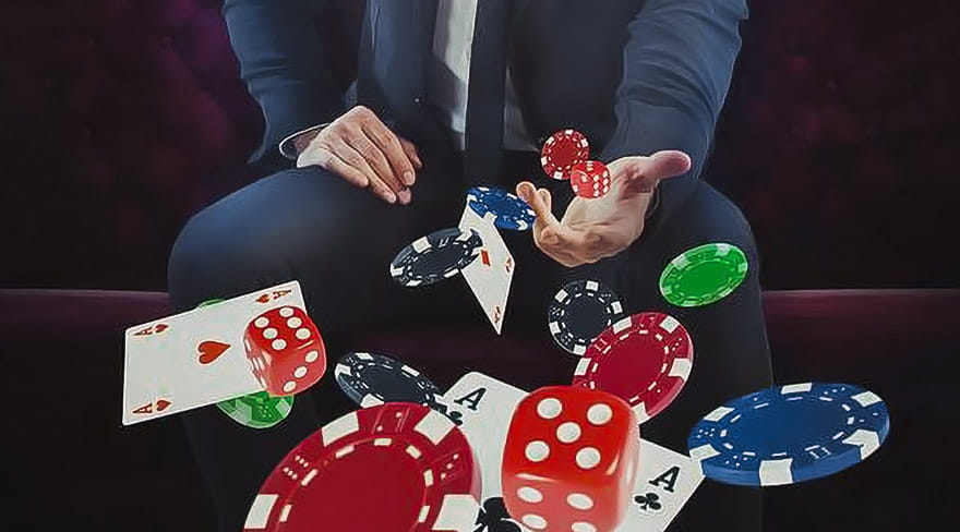Wealthy Gambler Throws Away Cards, Dices and Chips